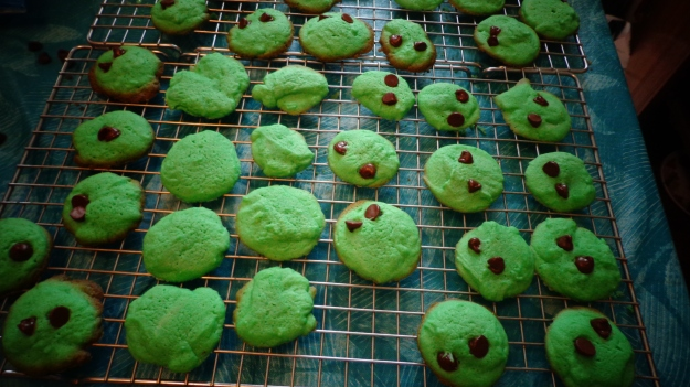 St. Patrick's Day Almond Cookies